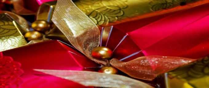 red and gold cracker at christmas