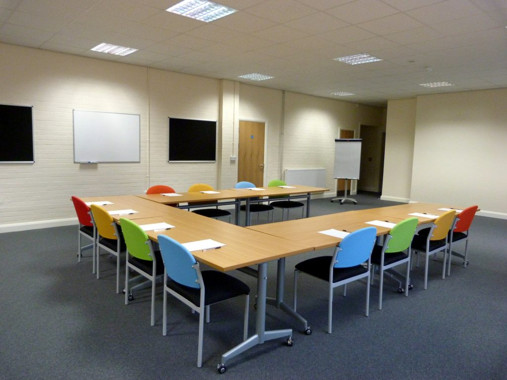 Redbank house training rooms sensory rooms and office for Training room design layout