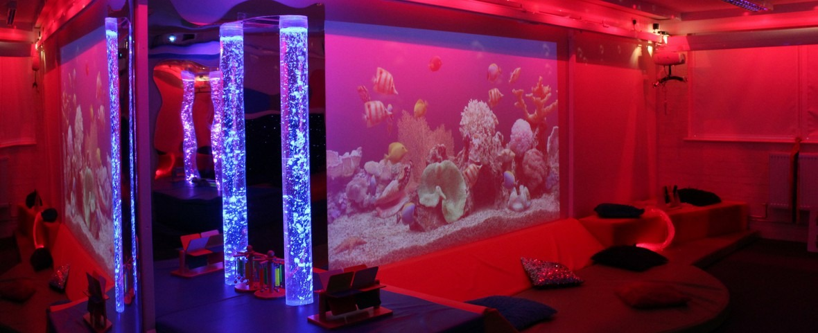 multi-sensory room 2 with bubble tubes at redbank house