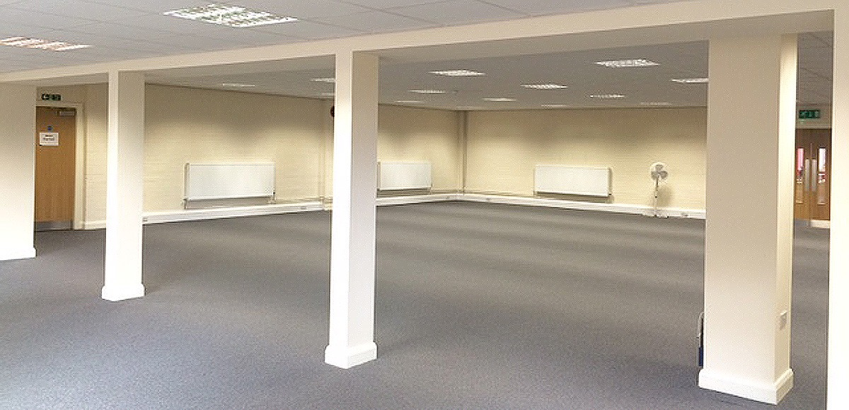 large empty room for office space at redbank house