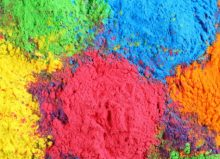 colourful powders together