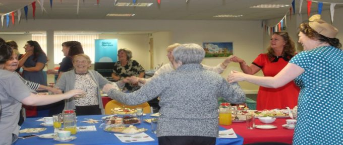 guests dancing at disabled living tea dance