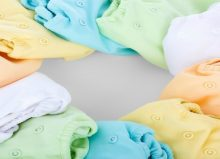 different coloured cotton nappies