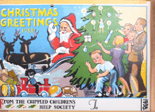 christmas greetings 1938 crippled childrens society disabled living