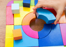 colourful sensory puzzle pieces