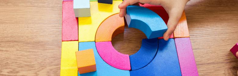 colourful sensory puzzle pieces