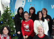 christmas team photo disabled living