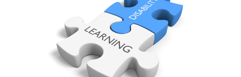 learning disability white and blue puzzle pieces together