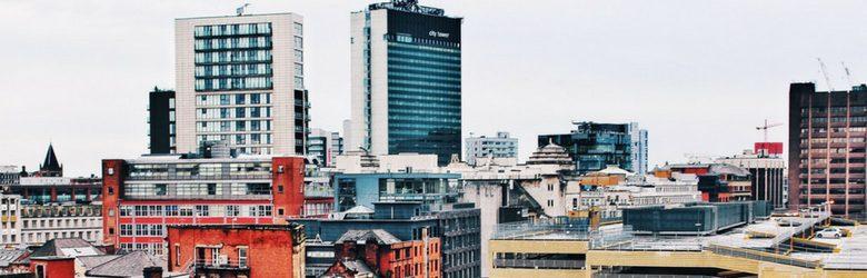 manchester city centre building shot