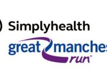 great manchester run simply health logo