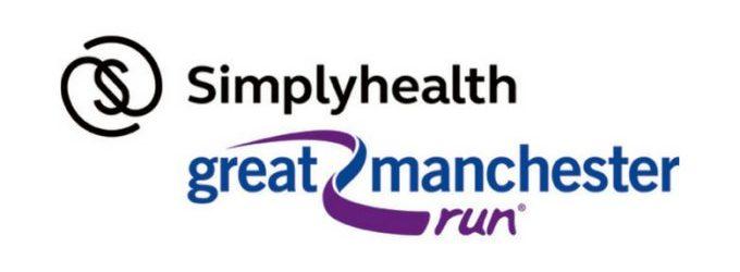great manchester run simply health logo