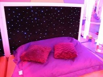 cushions on waterbed in sensory room 1