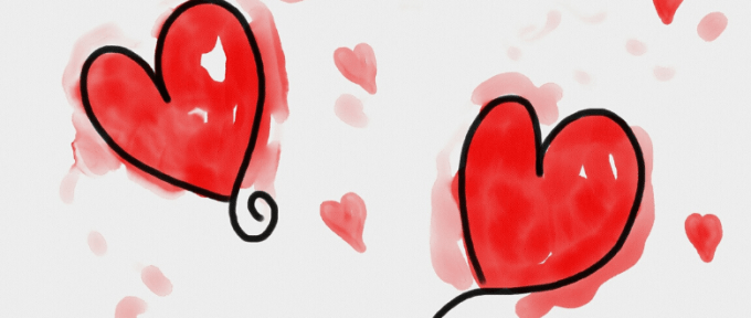 hearts drawing