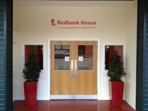 front of redbank house